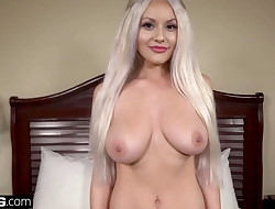 Teenage bad girl Kylie Page flashes her big tits in public