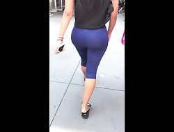 Juicy big ass shaking in tight stretch pants girls