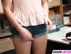 Shoplifting Sweety Babe Zoe Gets Smashed